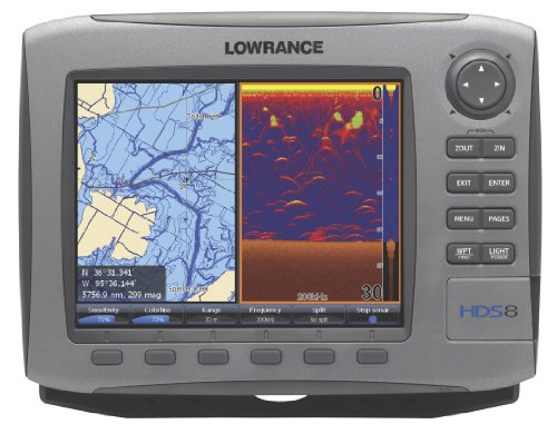 Lowrance HDS-8 8-Inch Waterproof Marine GPS and Chartplotter with 83/200kHz Transducer (Enhanced U.S. Basemap)