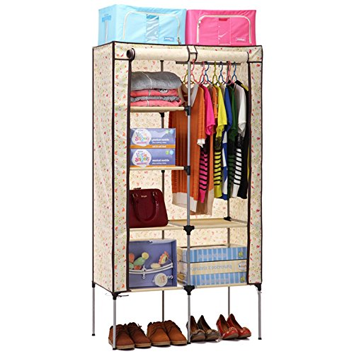 Aojia Canvas Wardrobe Clothes Hanging Rail Cupboard Clothes Storage Organiser 8103Yellow  sc 1 st  Google Sites & Best Price Aojia Canvas Wardrobe Clothes Hanging Rail Cupboard ...
