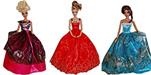 Barbie Doll Dresses - The Fairy Tale Collection (3 Dress Set) - DOLLS NOT INCLUDED