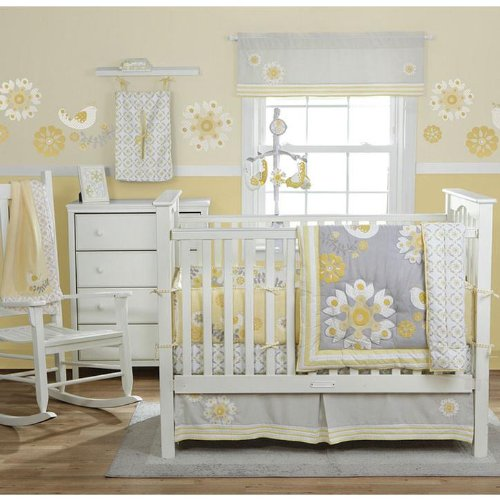 grey nursery bedding