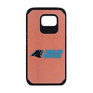 NFL Carolina Panthers Classic Football Pebble Grain Feel Samsung Galaxy S6 Case, Brown