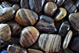 Exotic PSS1030 Polished Pebble, Striped, 5 Pounds, 1/2-Inch to 1-Inch