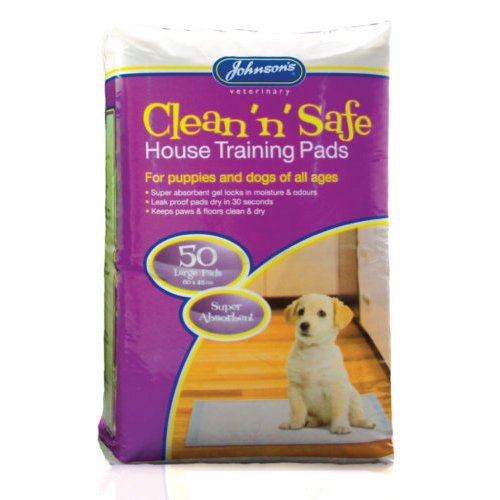 Johnsons Veterinary Products JVP Clean 'n' Safe House Training Pads Large 50Pk