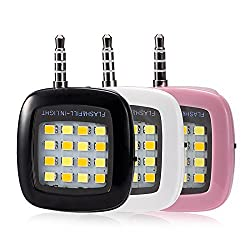 Bluebill Basic MINI Portable 16 LED Spotlight smartphone led flash fill light for iPhone and Android Devices for External Flash Fill Light Self (White)
