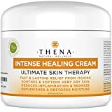 Best Healing Cream Natural Anti inflammatory Treatment Lotion For Eczema, Psoriasis, Rosacea, Dermatitis, Shingles, Rash, Flare-up, Fast Relief from Itchy, Very Dry, Irritated Skin Without Side Effect