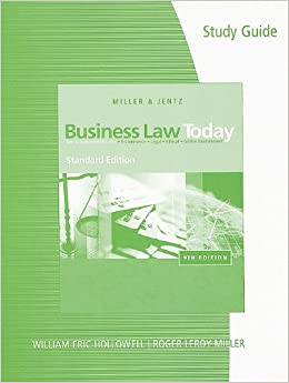 study guide for business law Coupon: rent study guide for clarkson's business law: text and cases 12th edition (9780538472777) and save up to 80% on textbook rentals and 90% on used textbooks.