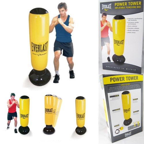 everlast power tower inflatable punching boxing bag punch. Black Bedroom Furniture Sets. Home Design Ideas