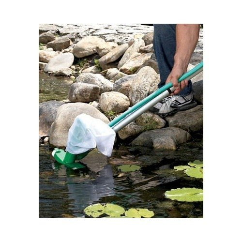 Cyclone Pond Vacuum Cleaner with Neck Water Hose Connectors. Maintain Your Pond & Control Algae. Pond Care Is Now Simple & Easy. Fish Are Not Disturb with This Device. Pond Liners Are Not Included or Needed to Use This Device. Extra Hose Connector