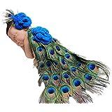Jastore® Photography Prop Baby Cute Peacock Crochet Knitted Costume Headband Cloak
