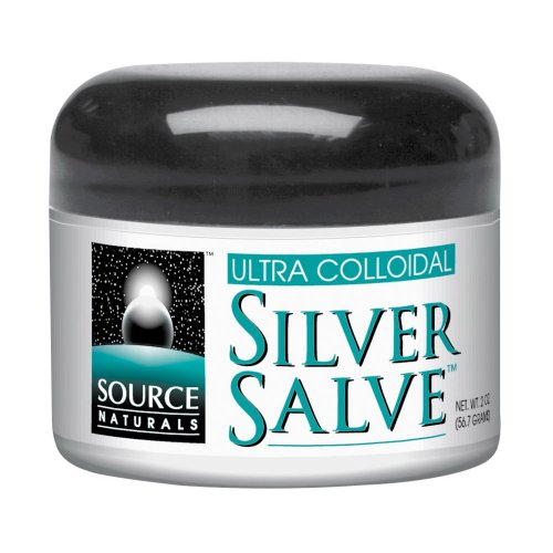 Source Naturals Ultra Colloidal Silver Salve, 10 ppm, 0.5-Ounce (Pack of 2)