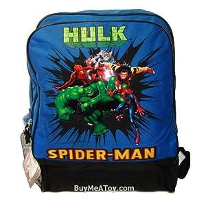 Blue hulk super large backpack spiderman for Hulk fishing shirts
