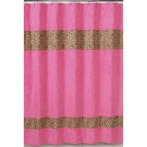 Brown curtain zebra bathroom themes