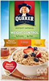 Quaker Instant Oatmeal Weight Control, Flavor Variety Pack, 1.58 oz, 8-Count Boxes (Pack of 4)