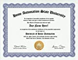 Home Automation Degree: Custom Gag Diploma Doctorate Certificate (Funny Customized Joke Gift - Novelty Item)