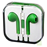 G4GADGET® Green Earphones Headphones With Remote, Mic & Volume Controls For Apple iPad4 iPhone 5,Ipod All Mp3 Mp4 Players Sony Creative Samsung, All Laptop Pc And All Devices With A Standard 3.5Mm Jack Plug