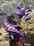 Thailand Handcarved Sawdust Dragon Figurine Purple