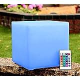 PK Green 20cm Cube Table Light Mood Lamp