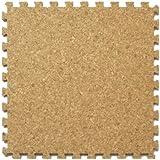 コルクマット/ジョイント式 [ジョイント形状type-A] 30cm 108枚/6畳セット ジョイントマット (A480-108)