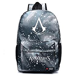 Assassin's Creed Backpack Zipper Galaxy School Book Bag for Teens Boys