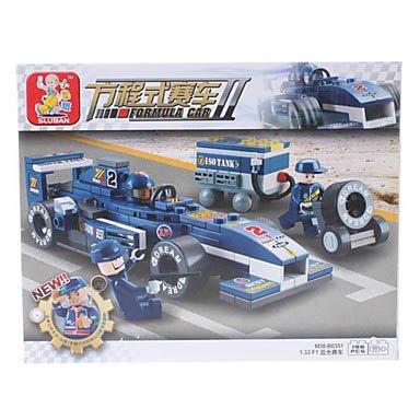 3D Diy Puzzle Formula Car Building Blocks Bricks Toy Sets (196Pcs, M38-B0351) front-648243