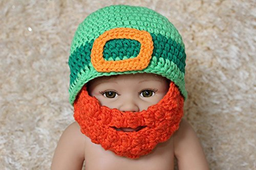 New Cute Handmade Full Beard Baby Child Knit Crochet Hat Cap (2-3Year) (Womens Plus Size Voodoo Doll Costume)
