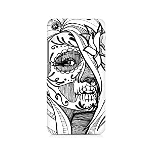 Mobicture Skull Abstract Premium Printed Case For Micromax Canvas Fire 4 A107