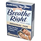 Breathe Right Breathe Right Nasal Strips Original Tan Large - 30 ct (Pack of 4)