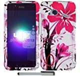 Pink Splash - Premium Design Protector Phone Cover Case Compatible for HTC Droid Incredible 4G LTE 6410 Fireball w/ Bonus Stylus Pen *VERIZON*