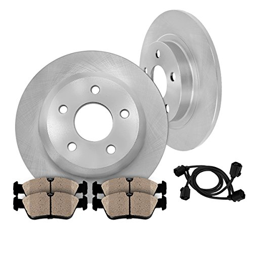 REAR Premium OE 300 mm [2] Rotors + [4] Quiet Low Dust Ceramic Brake Pads w/ Sensors Kit CK007817 (Mercedes E320 Cdi 2006 compare prices)