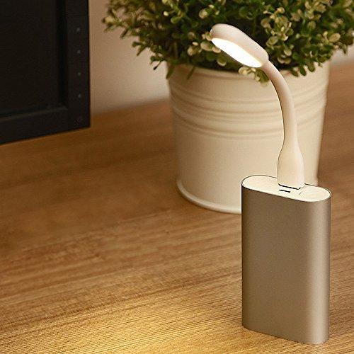 Mini USB LED lampada flessibile luce per Notebook PC Laptop MAC Caricabatterie ecc.(Bianco)