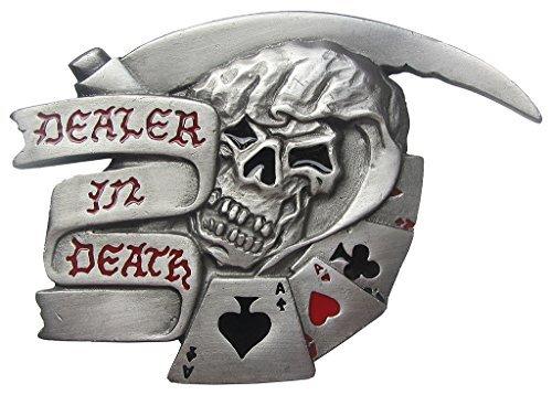 Fibbia Grim Reaper, Death Dealer, 3D, fibbia della cintura