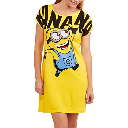 Despicable Me Minions Women's Dorm Sleep Tee Nightshirt (2X/3X) (Chip And Dale Costumes)