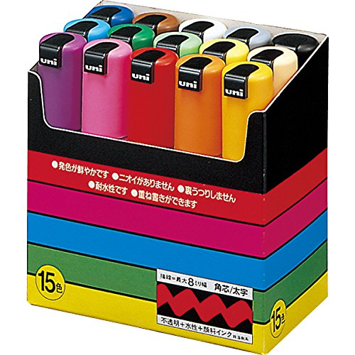 uni-posca-pc8k15c-paint-marker-pen-bold-point-set-of-15-japan-import