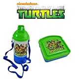 Teenage Mutant Ninja Turtles Kids 2 Piece Reusable Lunch Container Kit - TMNT Rock N Sip N Snack Wat