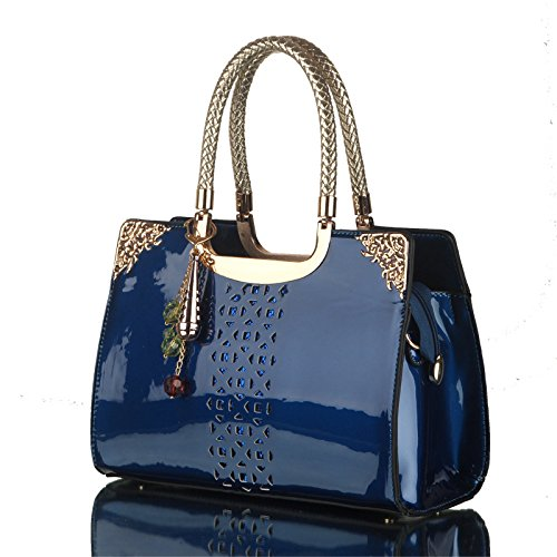 [Partner] women love to fight new patent leather handbag Korean fashion hollow portable shoulder diagonal Ms. bag wholesale