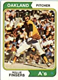 1974 Topps #212 Rollie Fingers Oakland Athletics Baseball Card In A