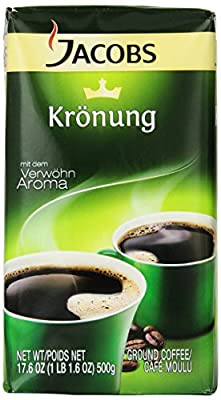 Jacobs Kronung Coffee, 17.6-Ounce Vacuum Packs (Pack of 3) from Jacob's Coffee