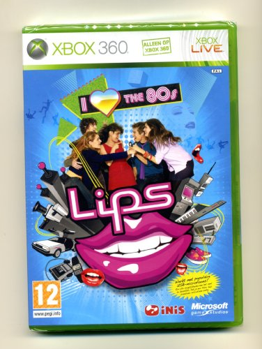 Lips I love the 80s XBox 360 Foreign Covers English Game & Songs PAL