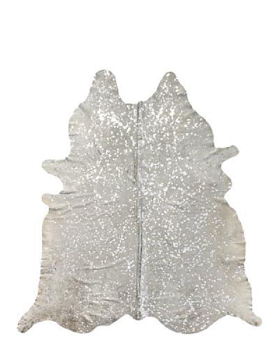 Natural Brand Scotland Cowhide Rug, Natural/Silver, 6′ x 7′