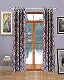 Homefab India Set of 2 Elegance Purple Curtains