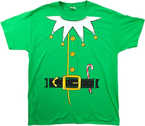 Santa's Elf Costume | Jumbo Print Novelty Christmas Holiday Humor Unisex T-shirt-Adult,L (Adult Clothing compare prices)