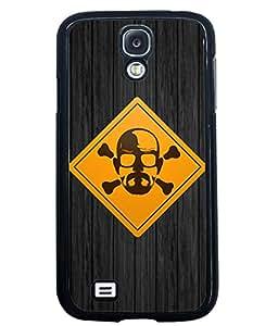 PRINTVISA DENGERAS POINT Premium Metallic Insert Back Case Cover for Samsung Galaxy S4 - I9500 - D5680