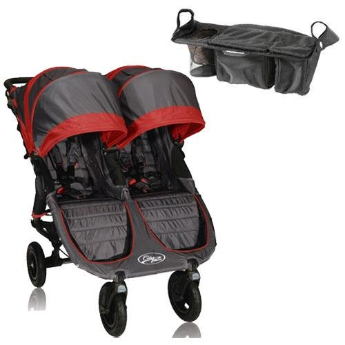 Baby Jogger City Mini Gt Double With Parent Console - Shadow Crimson front-174529