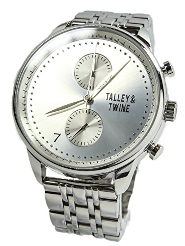 Talley & Twine Men's Quartz Stainless Steel Casual Watch, Color:Silver-Toned