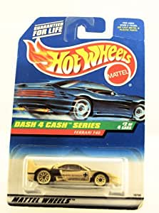 Hot Wheels - 1998 - Dash 4 Cash Series - Ferrari F40 - Gold Metallic Paint - 2 of 4 - Collector #722 - Limited Edition - Collectible 1:64 Scale