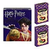 Harry Potter Golden Snitch Sticker Kit and 2 - 1.2 oz Boxes of Jelly Belly Harry Potter Bertie Bott's Every Flavour Beans Gift Set