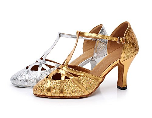 Womens Ballroom T Strap Closed Toe Shoes