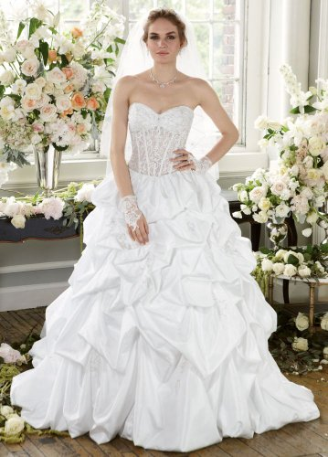 David's Bridal Wedding Dress: Pick-Up  Illusion