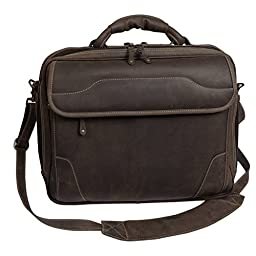 Canyon Outback Dakota Pines 14 Inch Leather Computer Briefcase, Distressed Brown, One Size