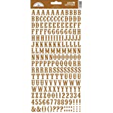 "Love Letters Cardstock Alphabet Stickers 5.75""X13"" Sheet-Bon Bon"